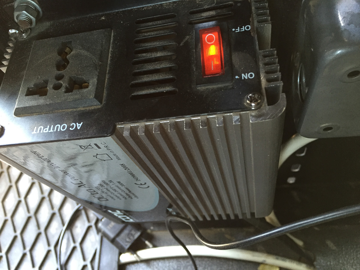 AC Converter inside the truck