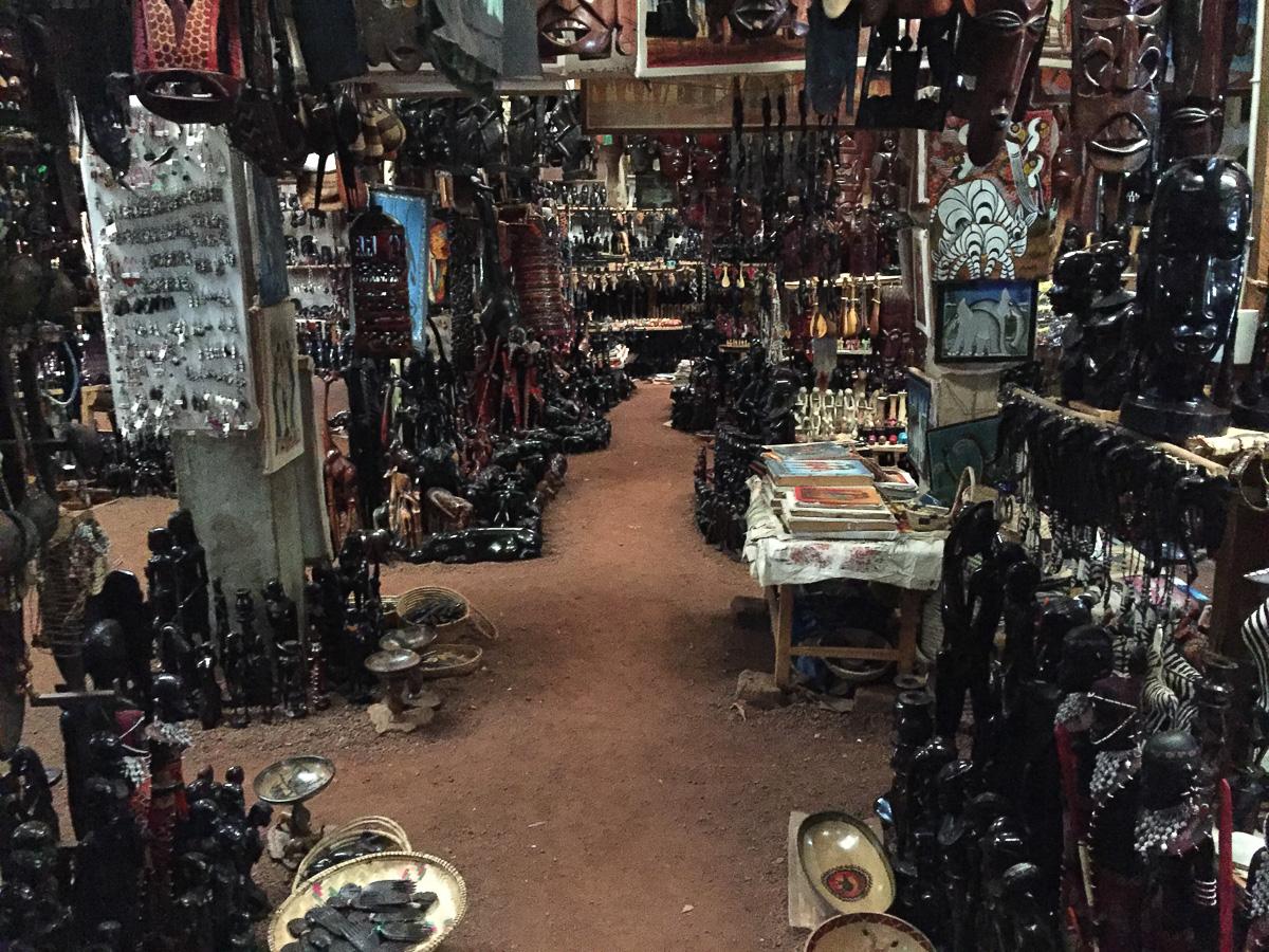 Tanzania souvenir shop