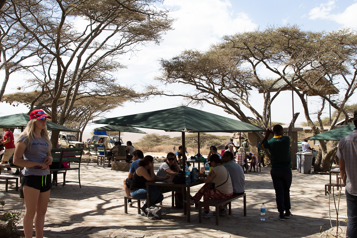 Serengeti entrance waiting area