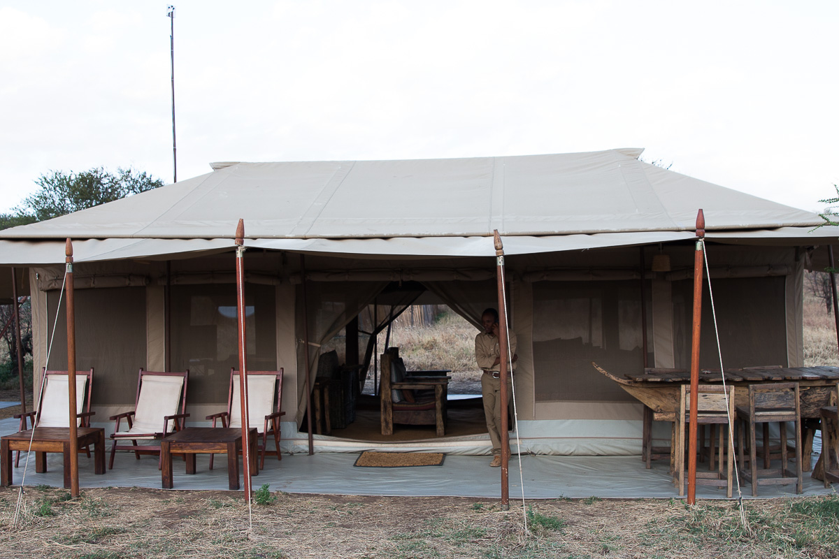 Dining area of the Acacia camp